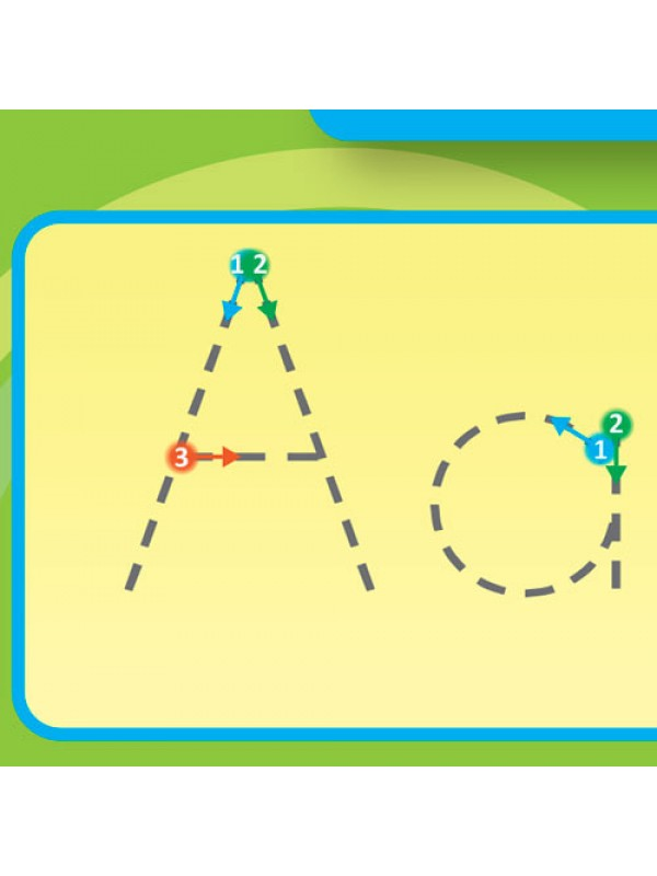 Sumbox Educational English Alphabet Trace Writing Wall Poster