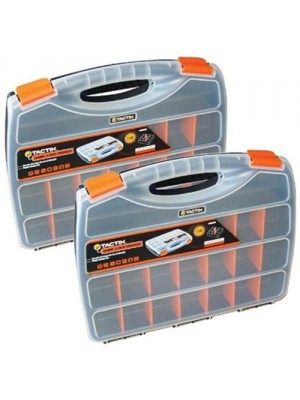 Multi Compartment Section Storage Box Organiser - Set Of 2