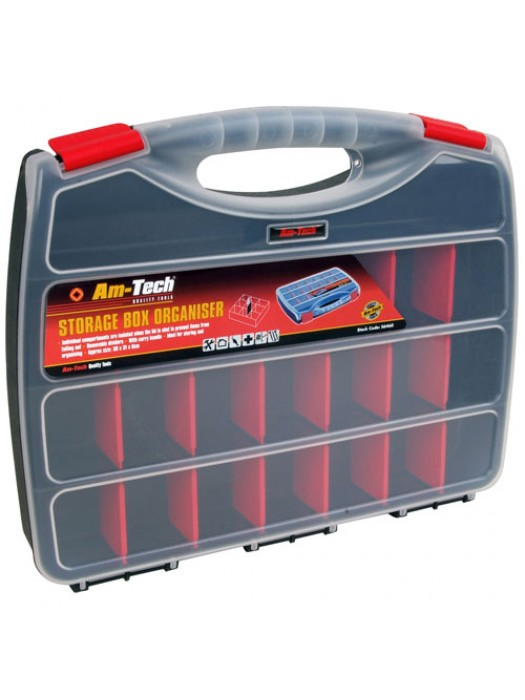 380mm Multi Compartment Section Storage Box Organiser
