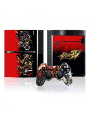 Street Fighter IV Faceplate & Console Skinz for PS3 - Type 2