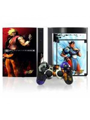 Street Fighter IV Faceplate & Console Skinz for PS3 - Type 1
