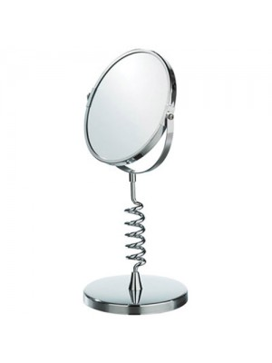Swivel Double Sided Cosmetic Shaving Bathroom Mirror Chrome Coil Designer Gift
