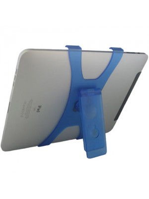 Plastic X Shape Stand for Apple iPad -  Blue