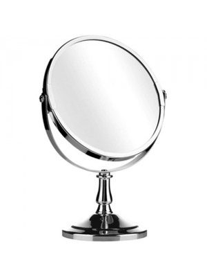 Double Sided Chrome Magnifying Make Up Shaving Swivel Mirror