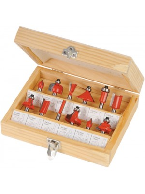 12 Piece 1/4inch High Quality TCT Router Bit Set - With Case