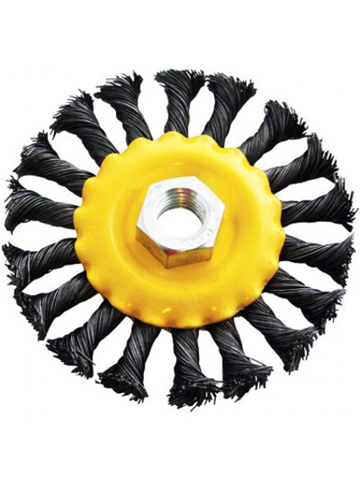 100mm (4inch)Twisted Wire Wheel Brush - M14 X 2