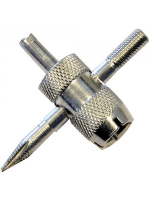 Metal Tyre Valve Repair Tool - 4 Way - Repairs Most Valves