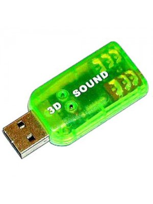 USB 2.0 5.1 CH Powerful Notebook/Laptop Sound Card