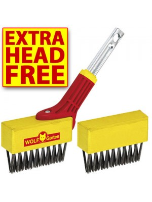 Wolf-Garten Multi-Change Weeding Brush & Spare Brush Head