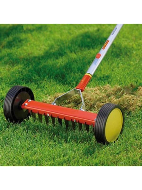 Wolf Garten Moss Removal Rake & Aluminium Handle - URM3 & ZMi15
