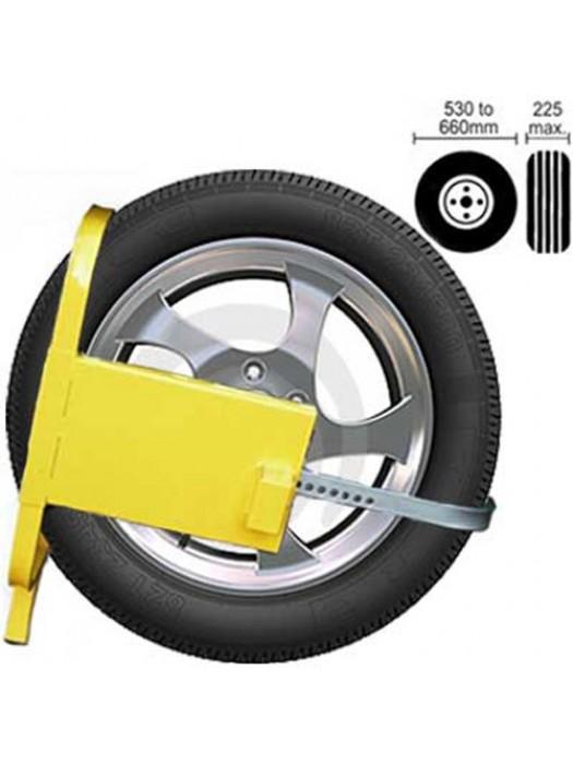Wheel / Tyre Clamp Lock for Car, Van, Caravan Security