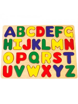 Wooden ABC Alphabet Educational Learning Children's Puzzle Toy