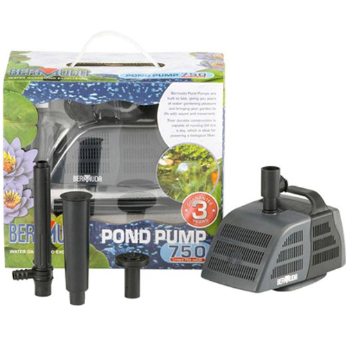 New Bermuda 750 Pond Pump Small Filter Fountain Runs