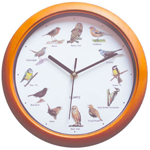 New bird sound wall clock with singing each hour british wildlife birds kitchen ebay - Cuckoo bird clock sound ...