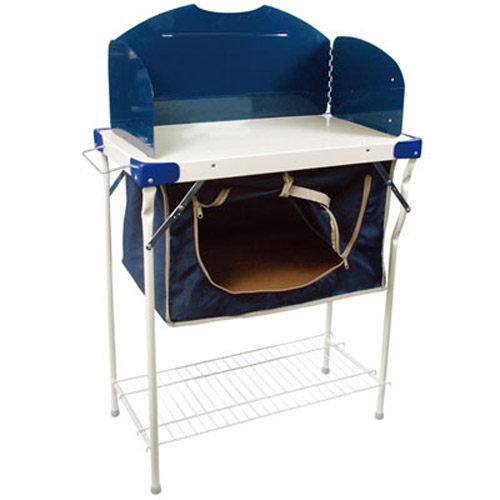 Camping Kitchen Table: NEW FOLDING STEEL CAMPING TABLE KITCHEN PANTRY SET