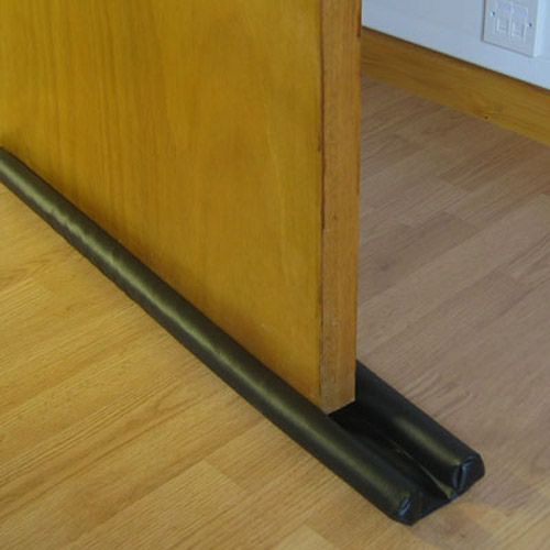 New double sided door draught excluder insulator ebay for Door draught excluder