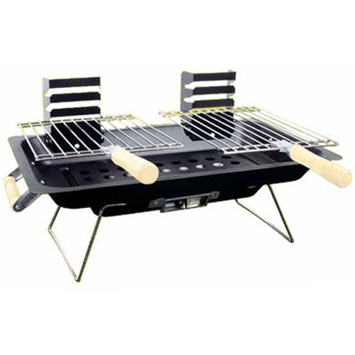 portable steel hibachi charcoal bbq grill ideal for camping picnic festivals ebay. Black Bedroom Furniture Sets. Home Design Ideas