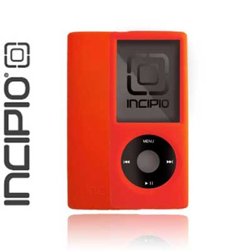 INCIPIO dermaSHOT Silicone Case for Ipod Nano 4G - Monila Red