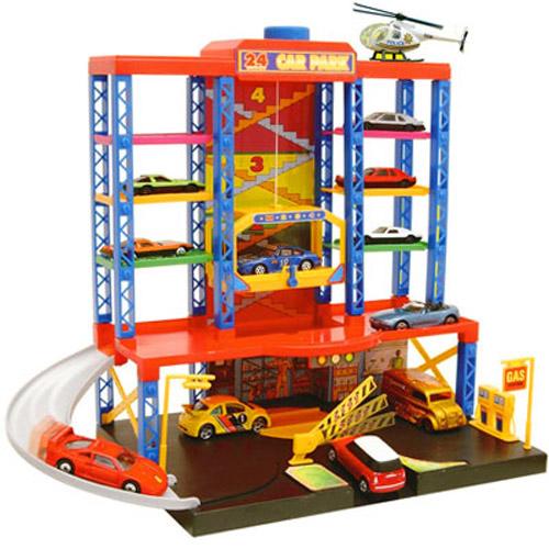 New Childrens Modern Car Parking Garage Play Toy Set