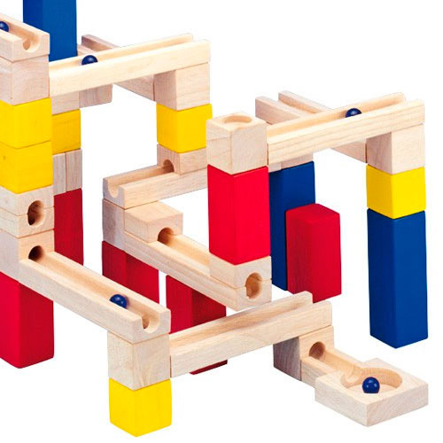 Marble Toys Blocks : Brand new children s wooden marble run stackable tower
