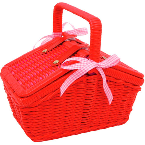 Toy Picnic Basket : Brand new piece childrens play wicker picnic basket toy