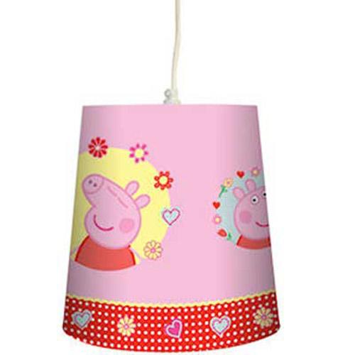 New peppa pig pendant light shade pink ebay for Peppa pig lamp and light shade