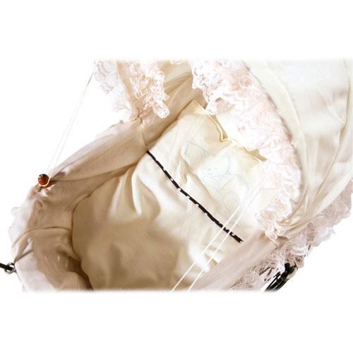 Childrens Antique Wicker White Lace Dolls Pram Pushchair