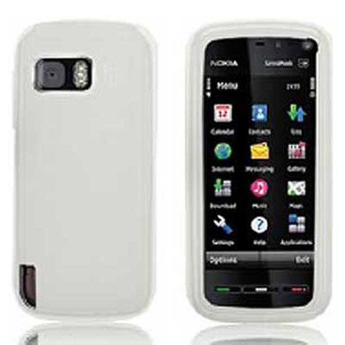 Silicone Skin Case for Nokia 5800 - White