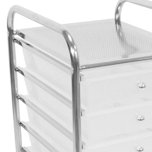 Chrome Storage Trolley Bathroom Storage Trolley