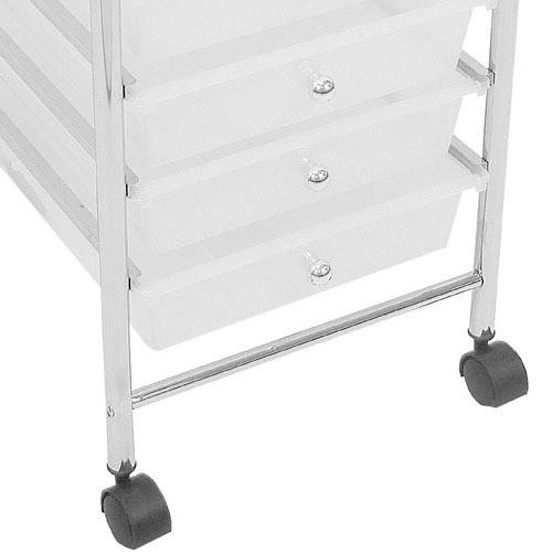 8 drawer chrome finish office salon bathroom storage - Bathroom storage on wheels ...