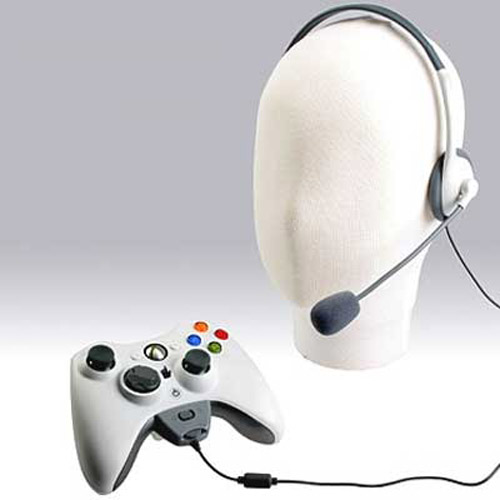 Lightweight Earphones / Headset / Microphone for Xbox 360 Live