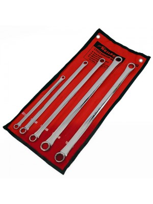 5 Piece Pro Extra Long Flat Ring Spanner Long Reach Spanners