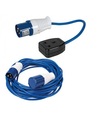 Silverline 14M Caravan Hook Up Cable 16A-13A Fly Lead Converter