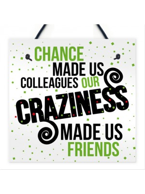 Chance Made Us Colleagues Plaque Sign Friendship Thank You Gift
