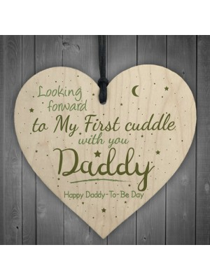 First Cuddle Daddy From Bump Gifts Heart Dad To Be Father Card