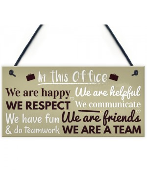 Office Funny Gift For Colleague Hanging Wall Plaques Doors Sign