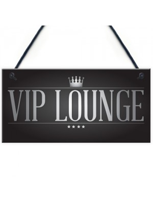 VIP LOUNGE Man Cave Home Bar Sign BBQ Beer Garden Party Dad