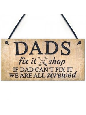 Dads Man Cave Signs Garage Shed Door Wall Hanging Plaque Gifts