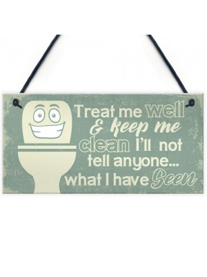 Funny BATHROOM Signs Shabby Chic Door Plaque Sign for Toilet