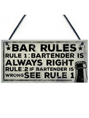 Always Right Bartender FUNNY Pub Landlord Alcohol Beer Gift