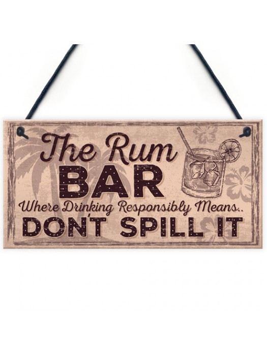 Alcohol Signs For Garden Shed SummerHouse Rum Gift Kitchen Sign