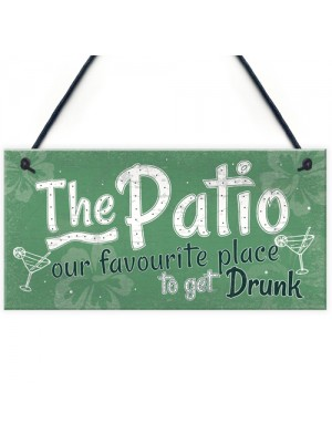 Funny Garden Patio Sign Alcohol Hanging Plaque Door Shed Gift