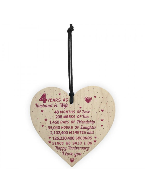 4th Wedding Anniversary Gift Heart Linen Fourth Wedding Gifts