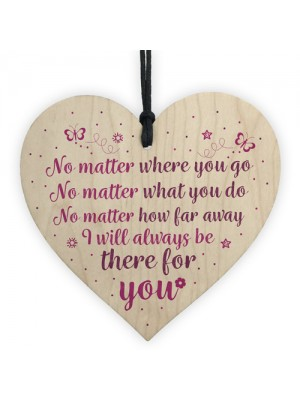 Always There Best Friend Sister Gifts Heart Friendship Plaque