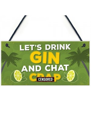 Novelty Gin Wall Sign Funny Bar Pub Man Cave Kitchen Plaque Gift
