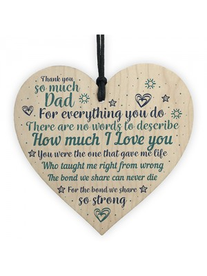 Dad Gifts From Daughter Son Handmade Wooden Heart Christmas