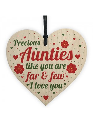 Auntie Aunt Aunty Gifts For Birthday Christmas Wood Heart Plaque