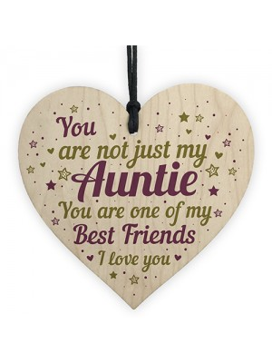Auntie Birthday Gifts Auntie Christmas Gifts Wooden Heart Sign