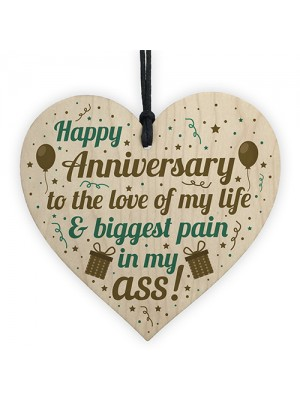 FUNNY Happy Anniversary Gift Heart 1st 2nd 10th Anniversary Gift
