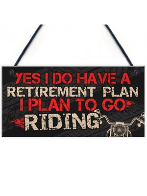 BIKE MOTORCYCLE Sign Hanging Plaque Gifts For Dad Grandad